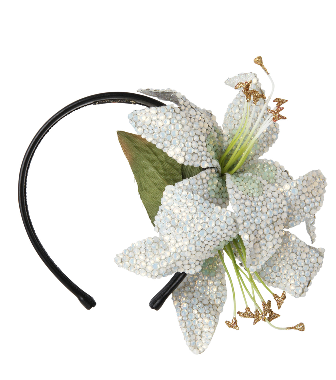 Piers Atkinson(ピアーズ アトキンソン)のSwarovski Crystal Encrusted Lilyes-WHITE(アクセサリー/accessory)-PA-24-4 拡大詳細画像1