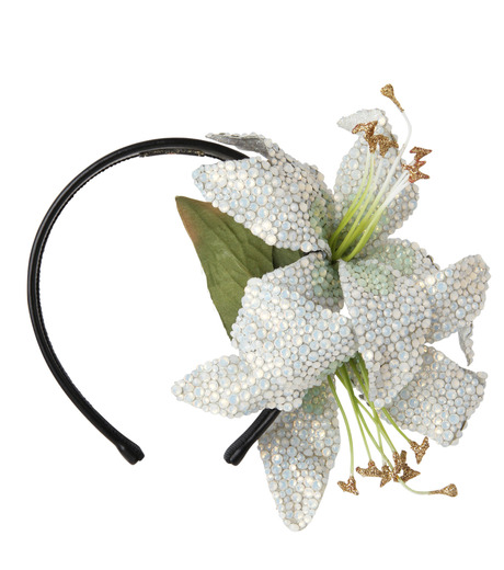 Piers Atkinson(ピアーズ アトキンソン)のSwarovski Crystal Encrusted Lilyes-WHITE(アクセサリー/accessory)-PA-24-4 詳細画像1