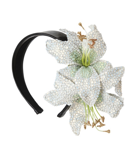 Piers Atkinson(ピアーズ アトキンソン)のSwarovski Crystal Encrusted Lilyes-WHITE(アクセサリー/accessory)-PA-24-4 詳細画像2