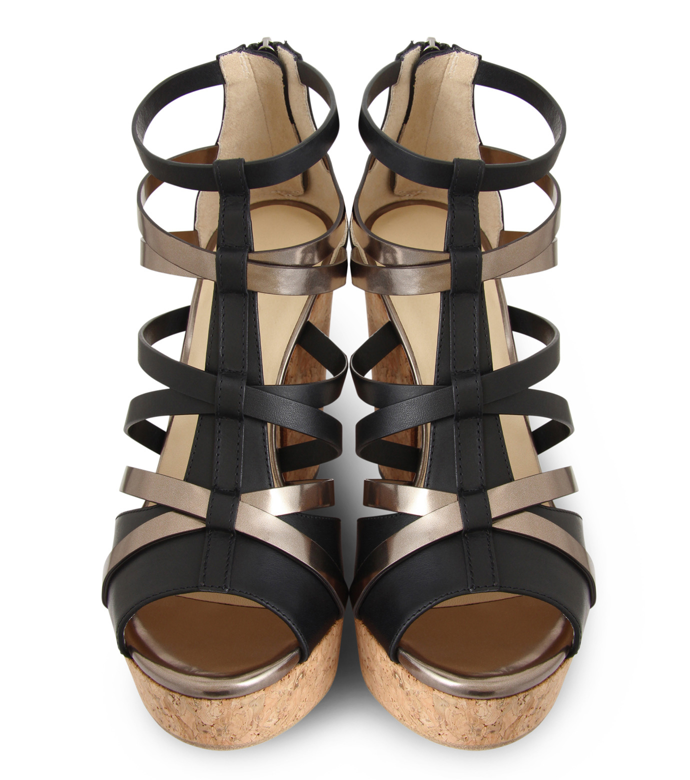 Jimmy Choo(ジミーチュウ)の153VCM Cork Wedge Vachetta/Mirror Le-BLACK(シューズ/shoes)-PASCAL-120-13 拡大詳細画像4