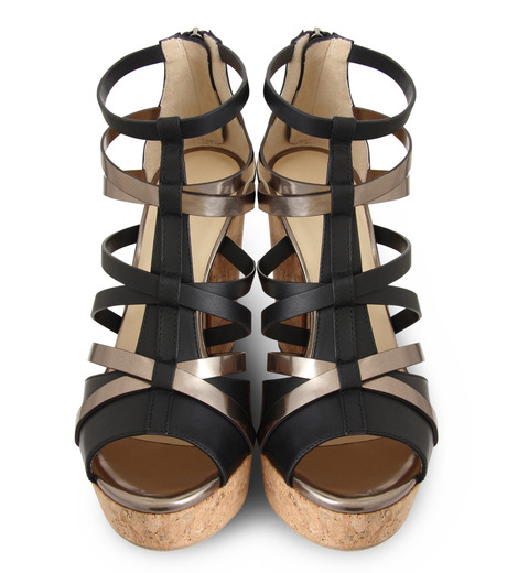 Jimmy Choo(ジミーチュウ)の153VCM Cork Wedge Vachetta/Mirror Le-BLACK(シューズ/shoes)-PASCAL-120-13 詳細画像4