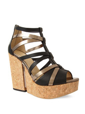 Jimmy Choo 153VCM Cork Wedge Vachetta/Mirror Le