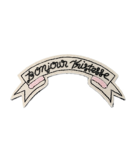 Olympia Le-Tan(オリンピア ルタン)のPatches Bonjour Tristesse-WHITE(アクセサリー/accessory)-PF16APA005-5 詳細画像1