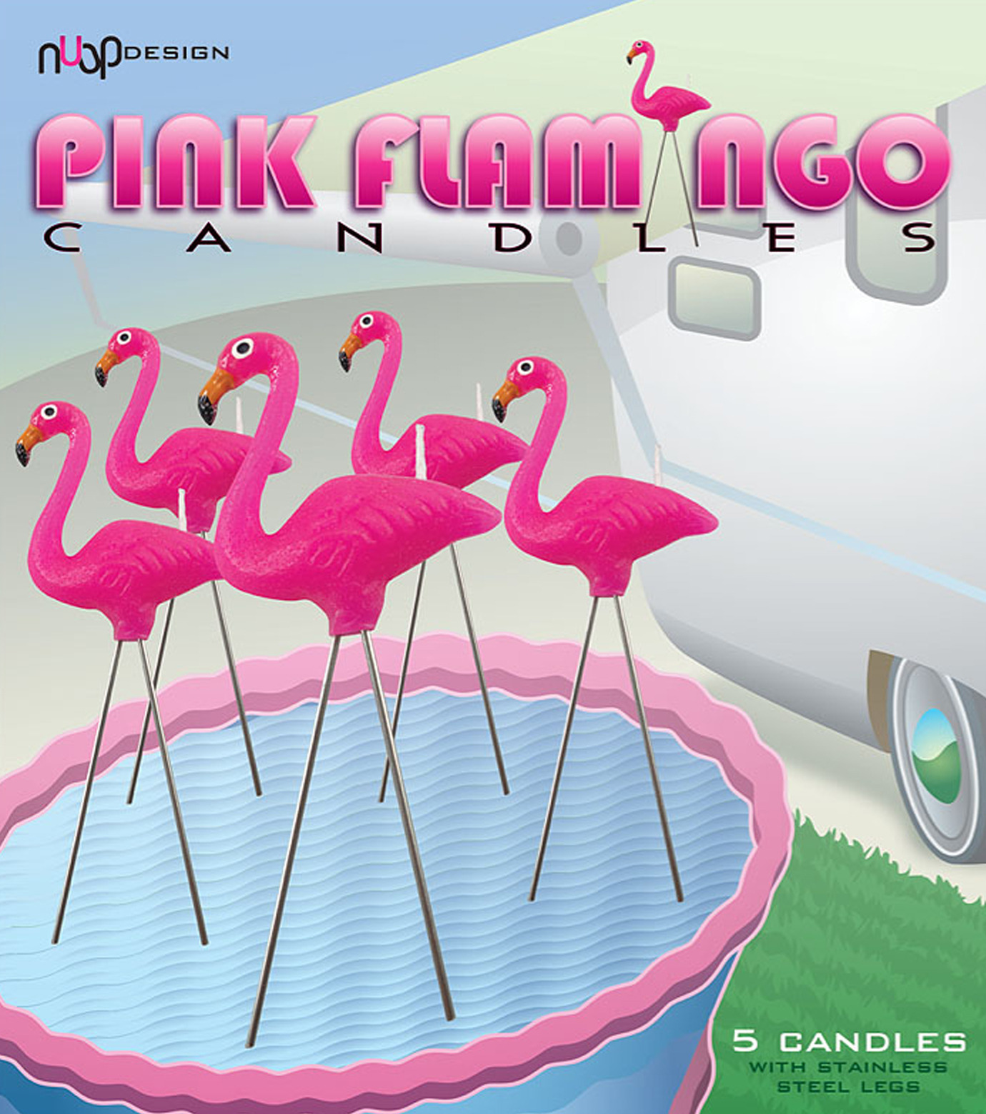 nuop design(ヌオップデザイン)のPink Flamingo Candles-PINK(OTHER-GOODS/OTHER-GOODS)-PFC-72 拡大詳細画像2
