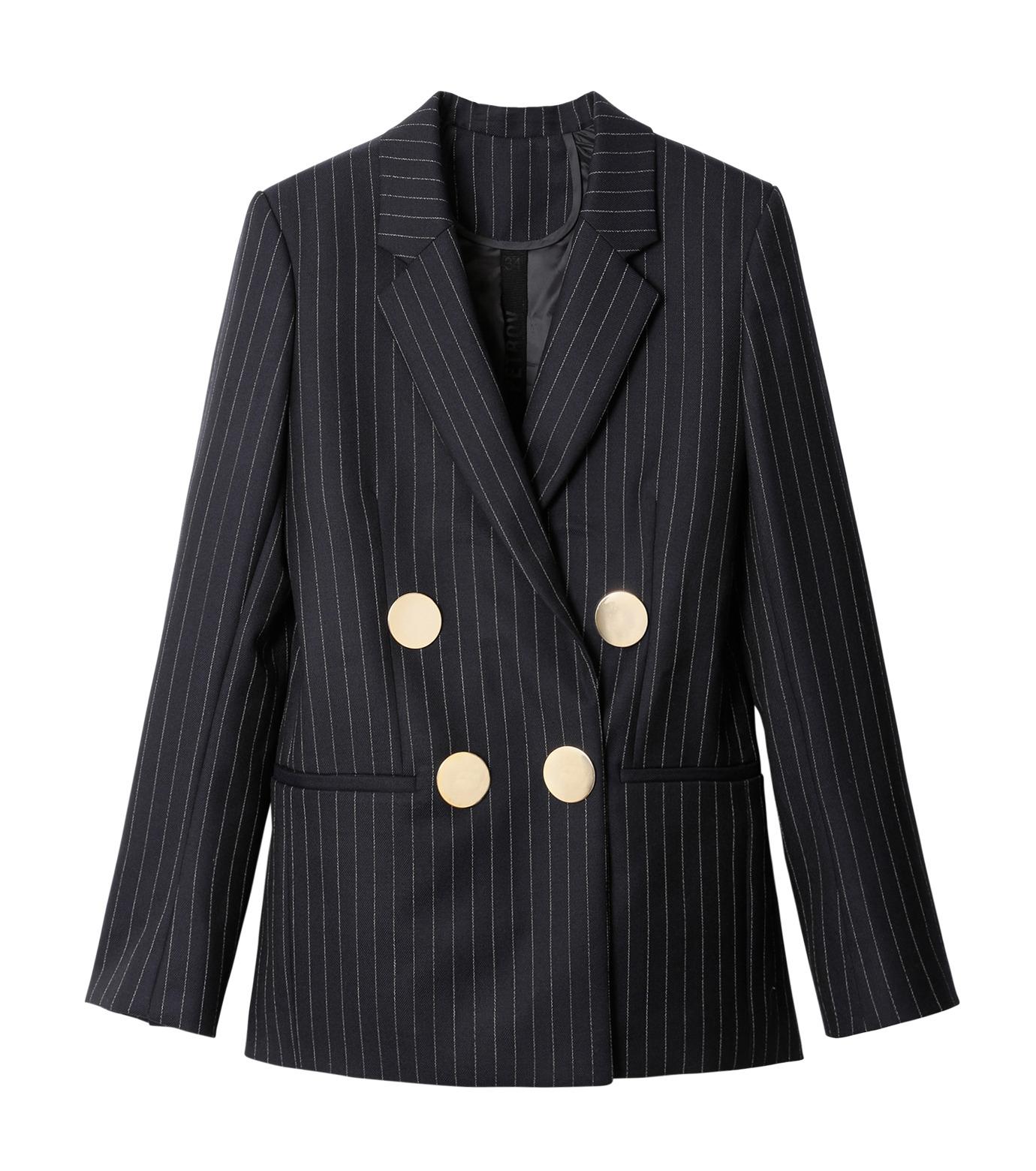 PETAR PETROV()のPinstripe Jacket-NAVY(ジャケット/jacket)-PIN-TS2-93 拡大詳細画像1