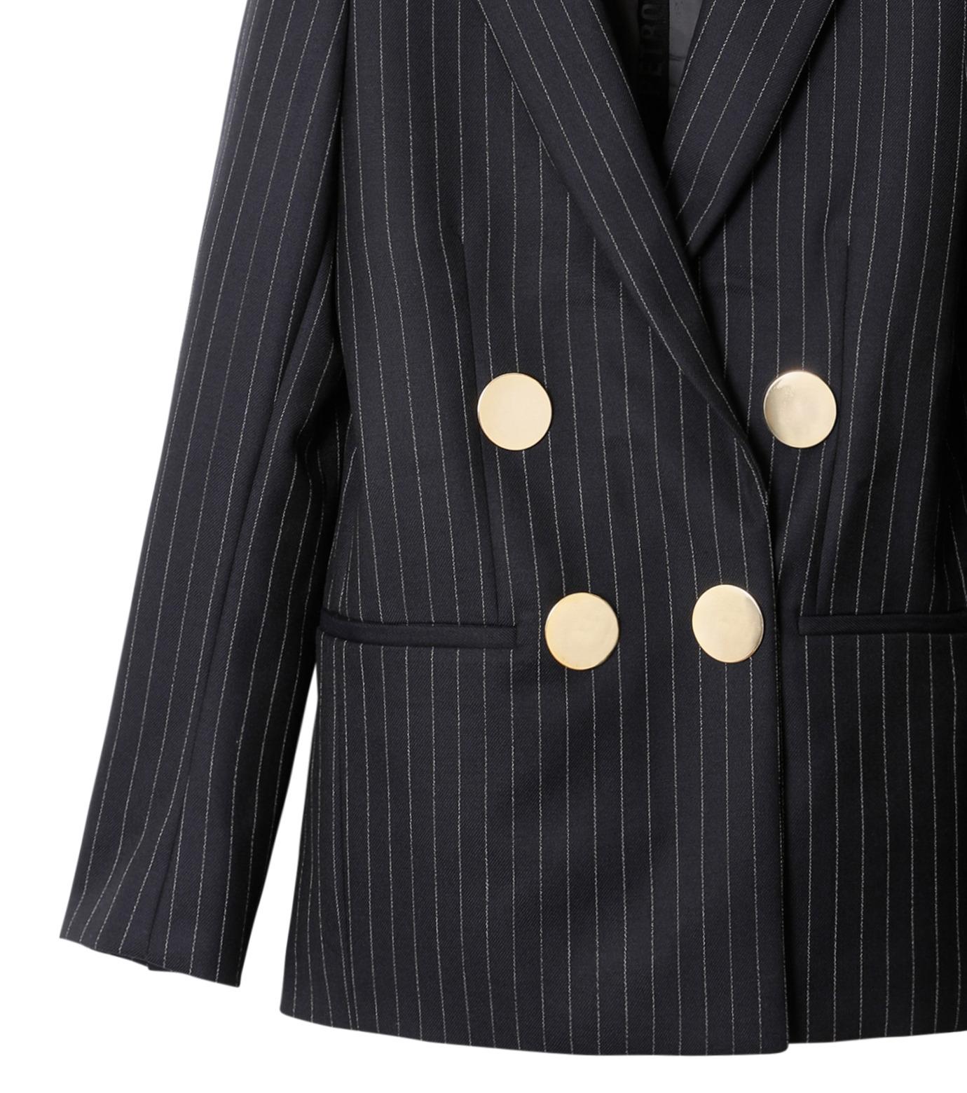 PETAR PETROV()のPinstripe Jacket-NAVY(ジャケット/jacket)-PIN-TS2-93 拡大詳細画像3