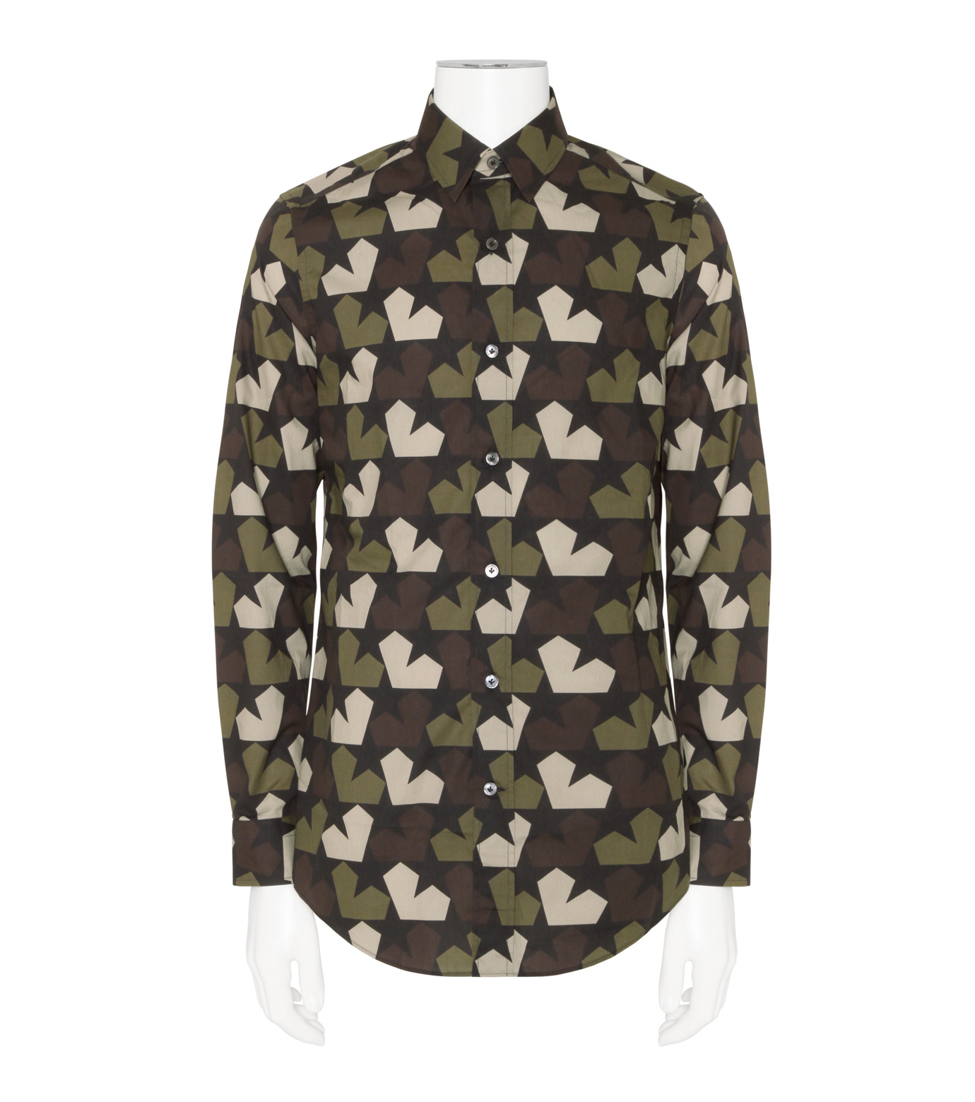 PORTS1961(ポーツ)のStar Camo Shirt-KHAKI(シャツ/shirt)-PM316HCL01-24 拡大詳細画像1