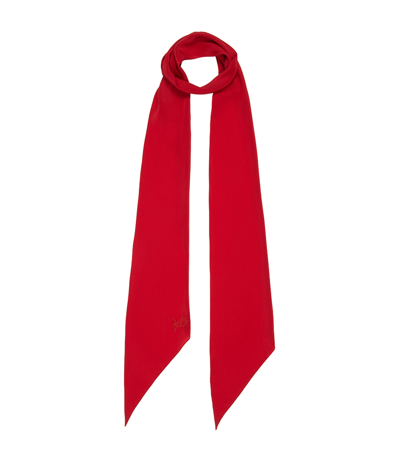Rockins(ロッキンス)のClassic Skinny Solid-RED(ストール/stole)-PNCSRE-62 拡大詳細画像1