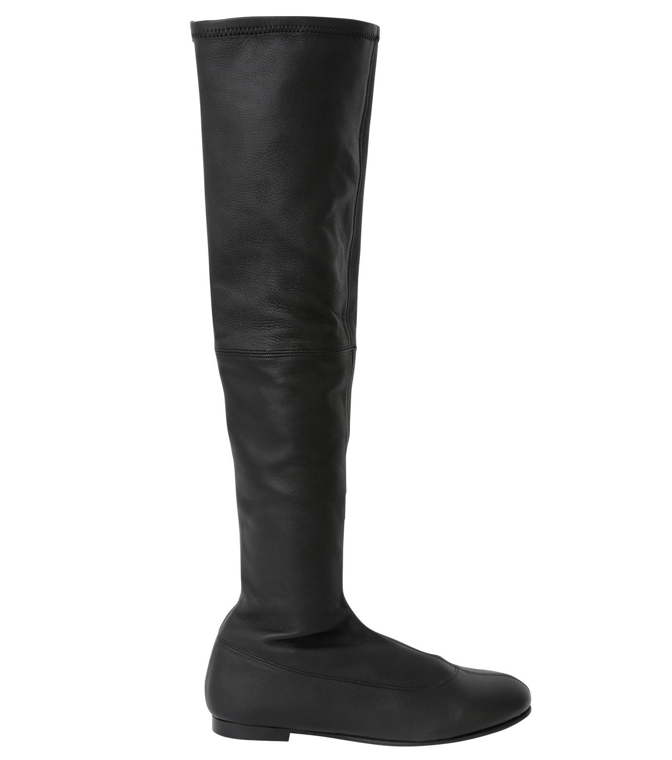PIPPICHIC(ピッピシック)のStrech Knee High Boots-BLACK(ブーツ/boots)-PP15-STR-N14-13 拡大詳細画像1