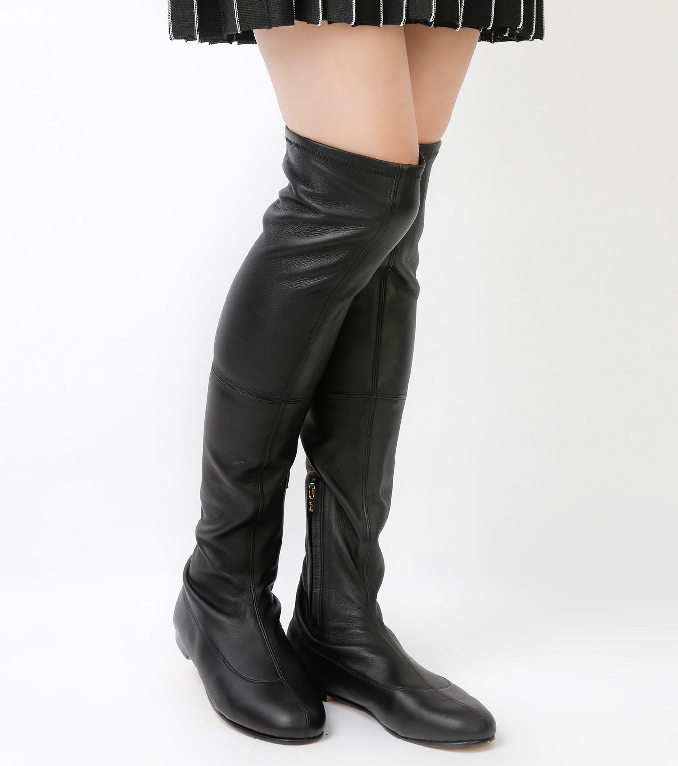PIPPICHIC(ピッピシック)のStrech Knee High Boots-BLACK(ブーツ/boots)-PP15-STR-N14-13 拡大詳細画像3