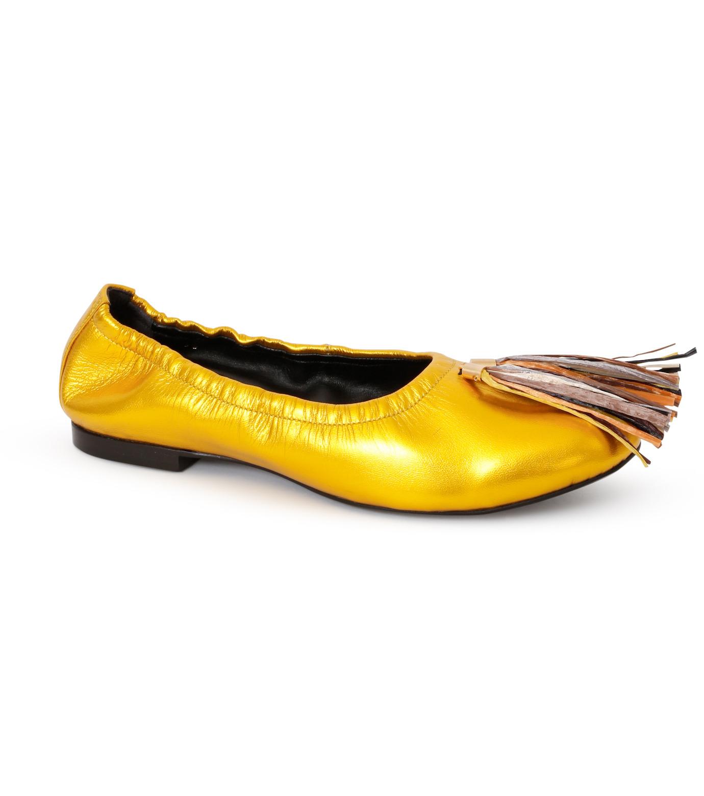 PIPPICHIC(ピッピシック)のballet shoes-GOLD(シューズ/shoes)-PP16BALLET19-2 拡大詳細画像1