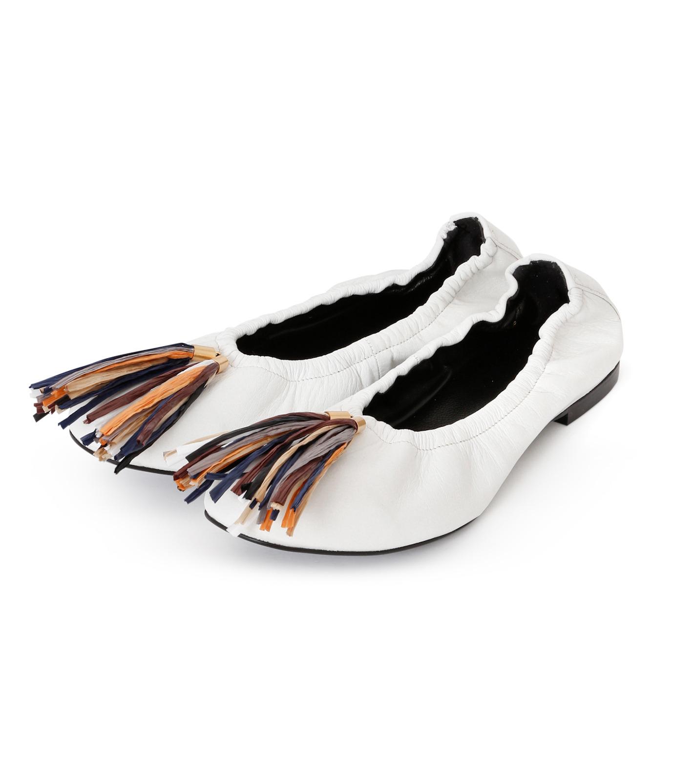 PIPPICHIC(ピッピシック)のballet shoes-WHITE(シューズ/shoes)-PP16BALLET19-4 拡大詳細画像2