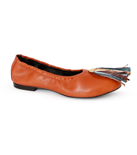 PIPPICHIC(ピッピシック)のballet shoes-DARK BROWN(シューズ/shoes)-PP16BALLET19-43 詳細画像1