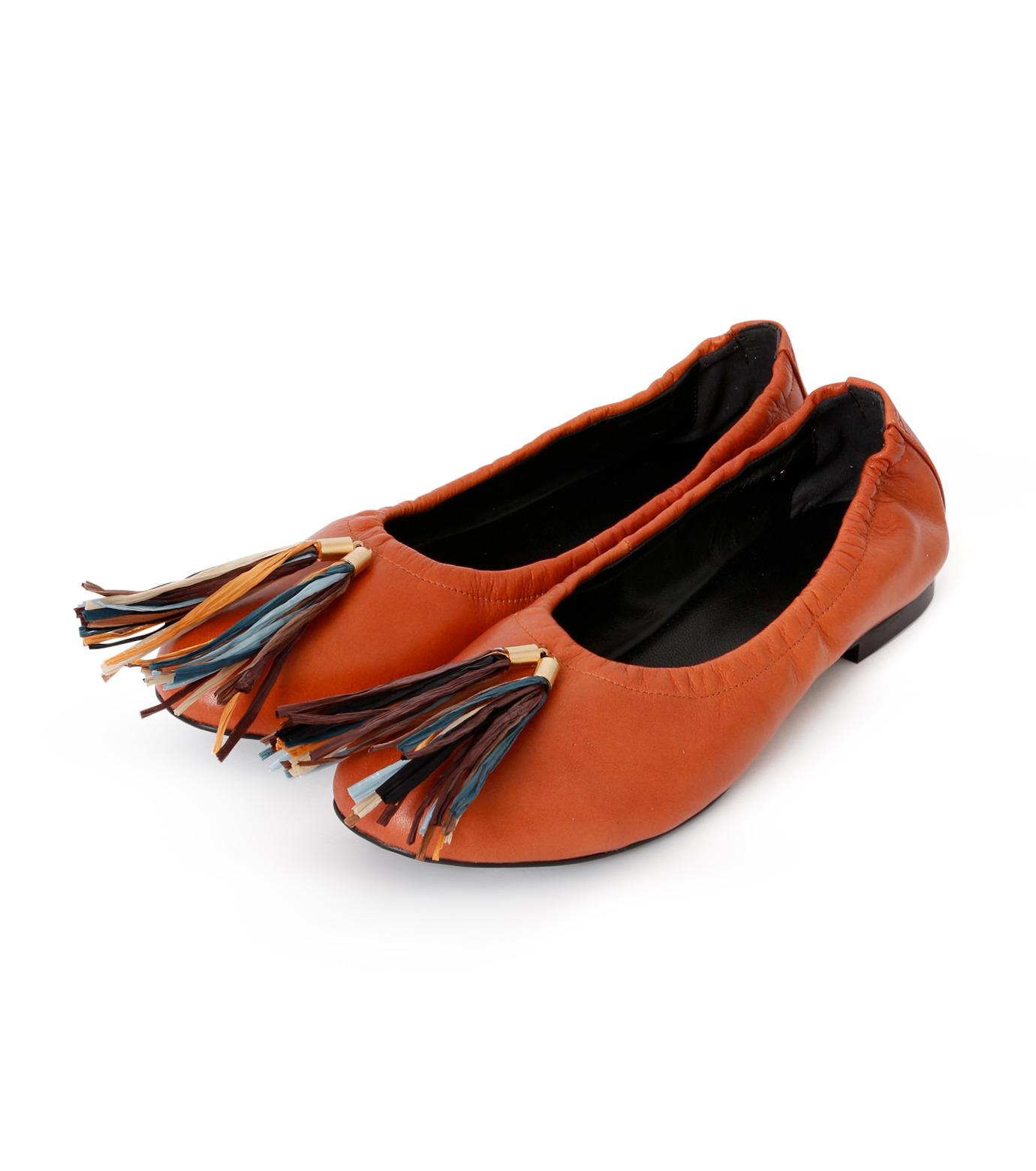 PIPPICHIC(ピッピシック)のballet shoes-DARK BROWN(シューズ/shoes)-PP16BALLET19-43 拡大詳細画像2