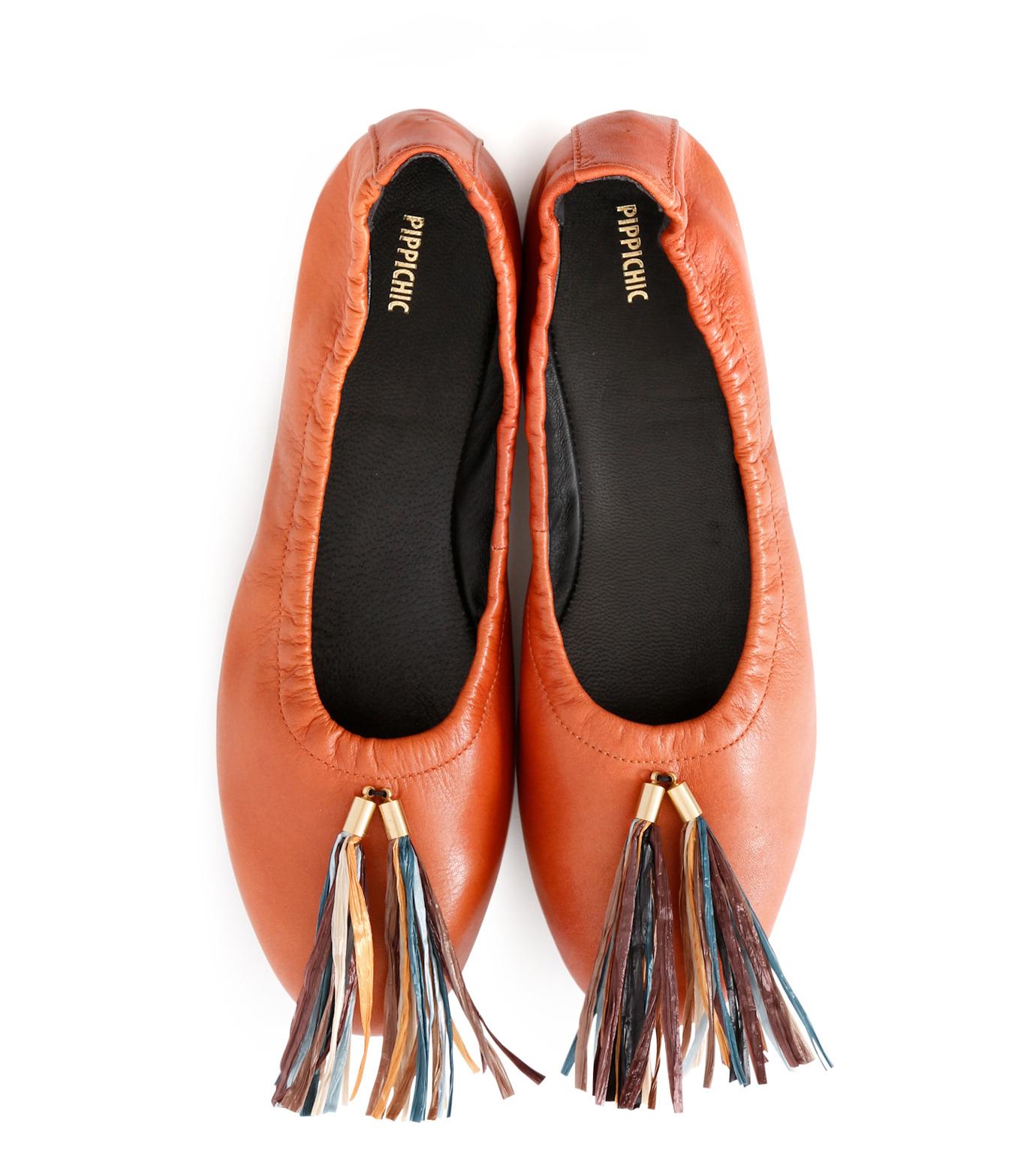 PIPPICHIC(ピッピシック)のballet shoes-DARK BROWN(シューズ/shoes)-PP16BALLET19-43 拡大詳細画像4