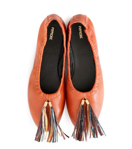 PIPPICHIC(ピッピシック)のballet shoes-DARK BROWN(シューズ/shoes)-PP16BALLET19-43 詳細画像4