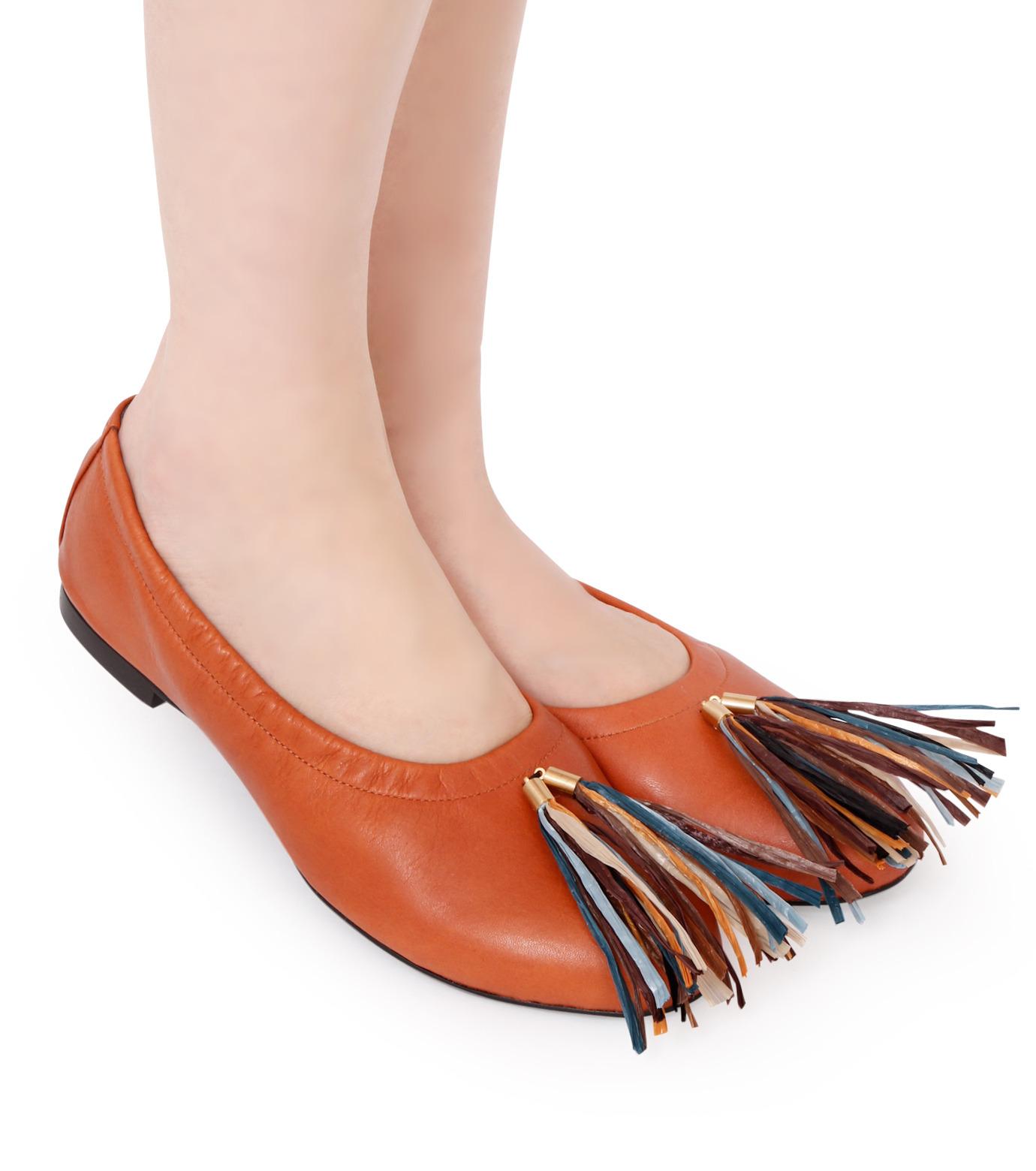 PIPPICHIC(ピッピシック)のballet shoes-DARK BROWN(シューズ/shoes)-PP16BALLET19-43 拡大詳細画像5