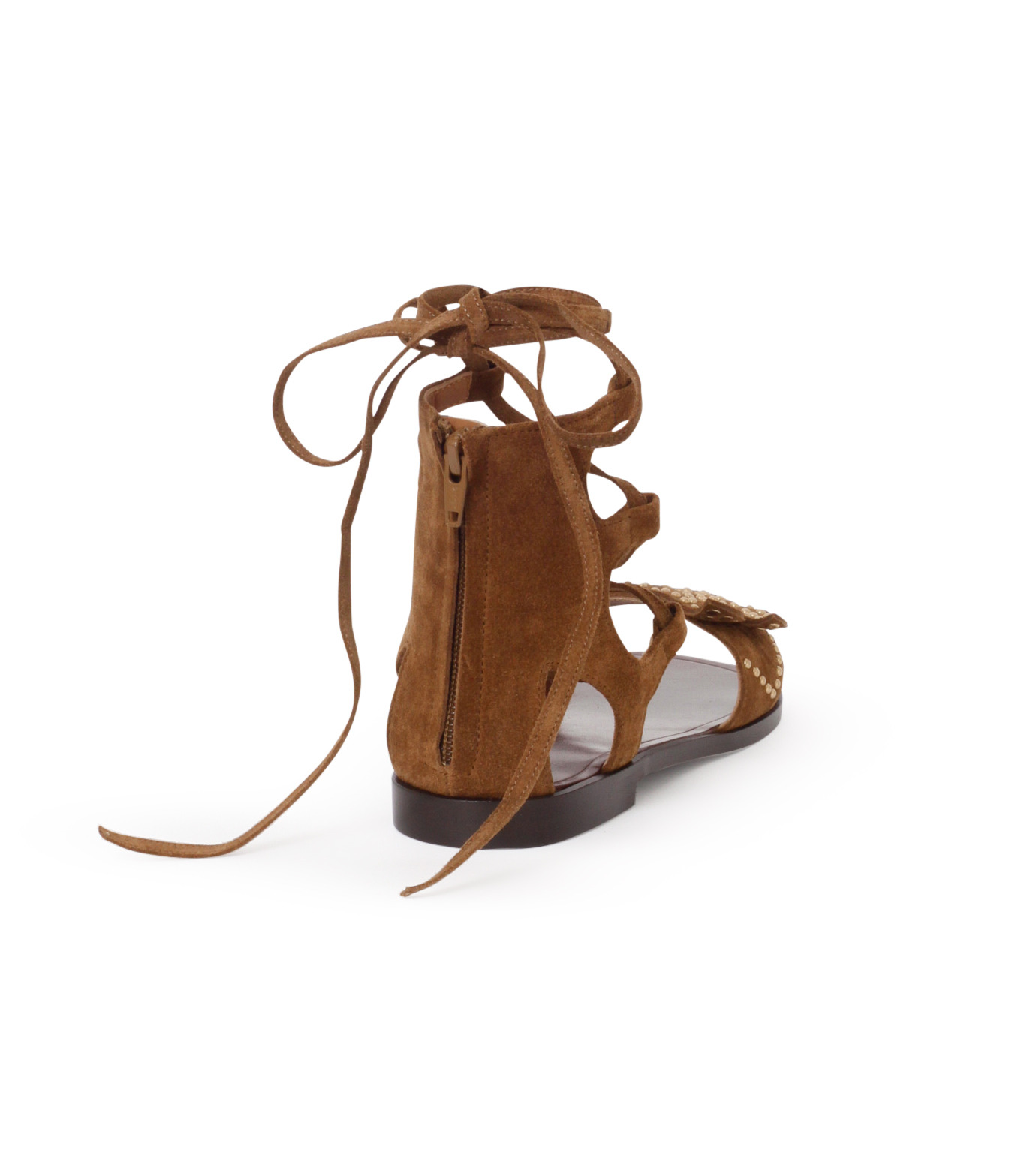PIPPICHIC(ピッピシック)のbird lace-up flat sandal-BROWN(シューズ/shoes)-PP16S-BIRD24-42 拡大詳細画像3