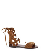 PIPPICHIC bird lace-up flat sandal