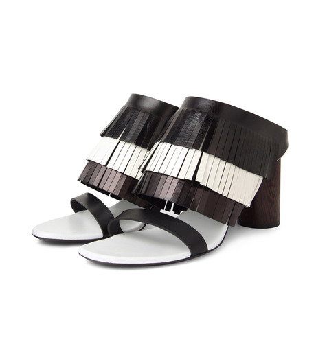 Proenza Schouler(プロエンザ スクーラー)のFringe Mule-BLACK(シューズ/shoes)-PS26017-13 詳細画像3