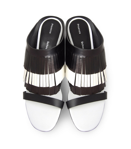 Proenza Schouler(プロエンザ スクーラー)のFringe Mule-BLACK(シューズ/shoes)-PS26017-13 詳細画像4