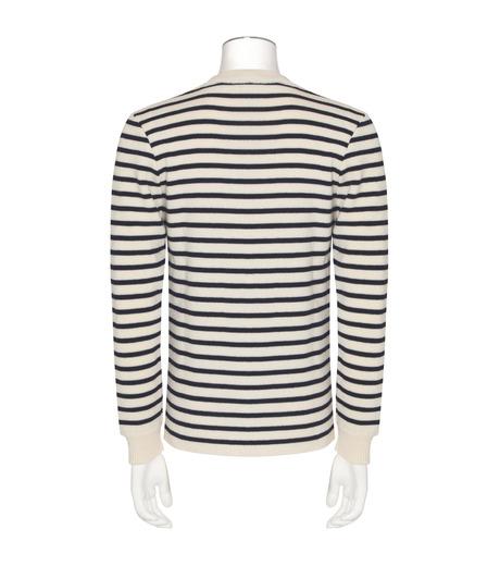 YPROJECT()のBorder Knit-WHITE(ニット/knit)-PULL4-4 詳細画像2