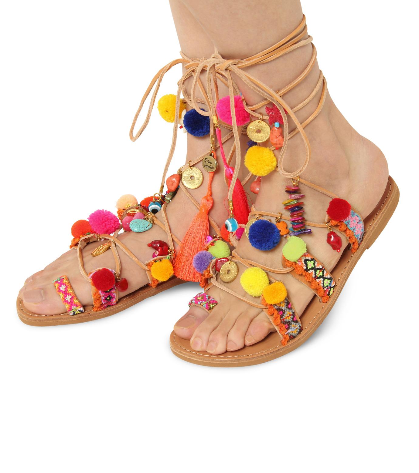 Elina Linardaki(エリナ リナーダキ)のPeny Lane Laceup-MULTI COLOUR(シューズ/shoes)-Penny-Lane-9 拡大詳細画像1