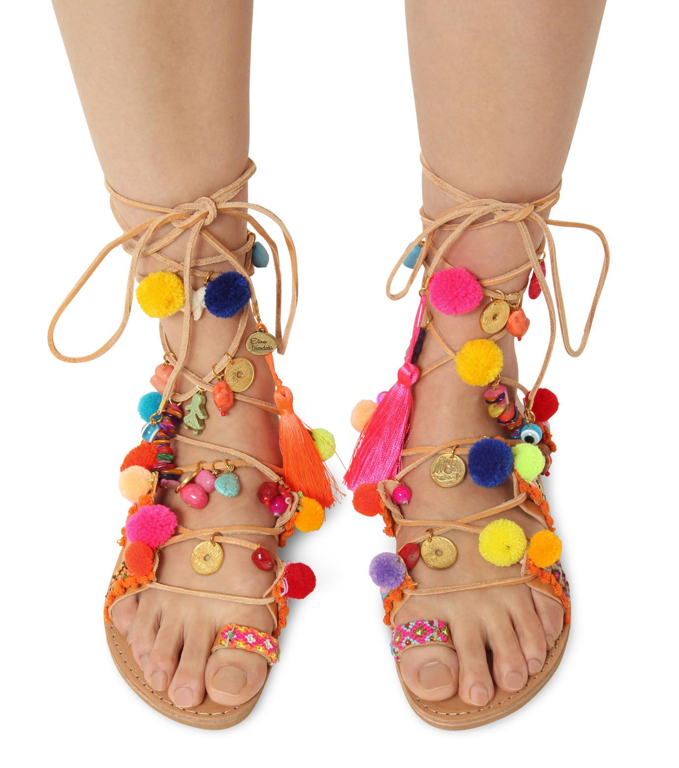 Elina Linardaki(エリナ リナーダキ)のPeny Lane Laceup-MULTI COLOUR(シューズ/shoes)-Penny-Lane-9 拡大詳細画像2