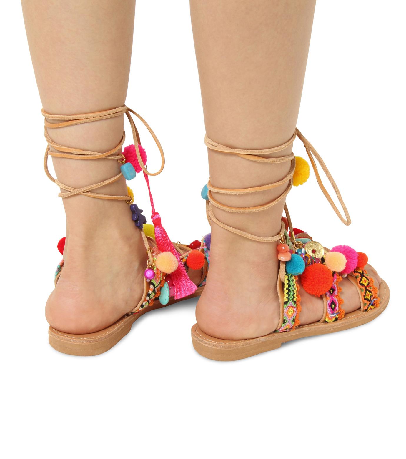 Elina Linardaki(エリナ リナーダキ)のPeny Lane Laceup-MULTI COLOUR(シューズ/shoes)-Penny-Lane-9 拡大詳細画像4