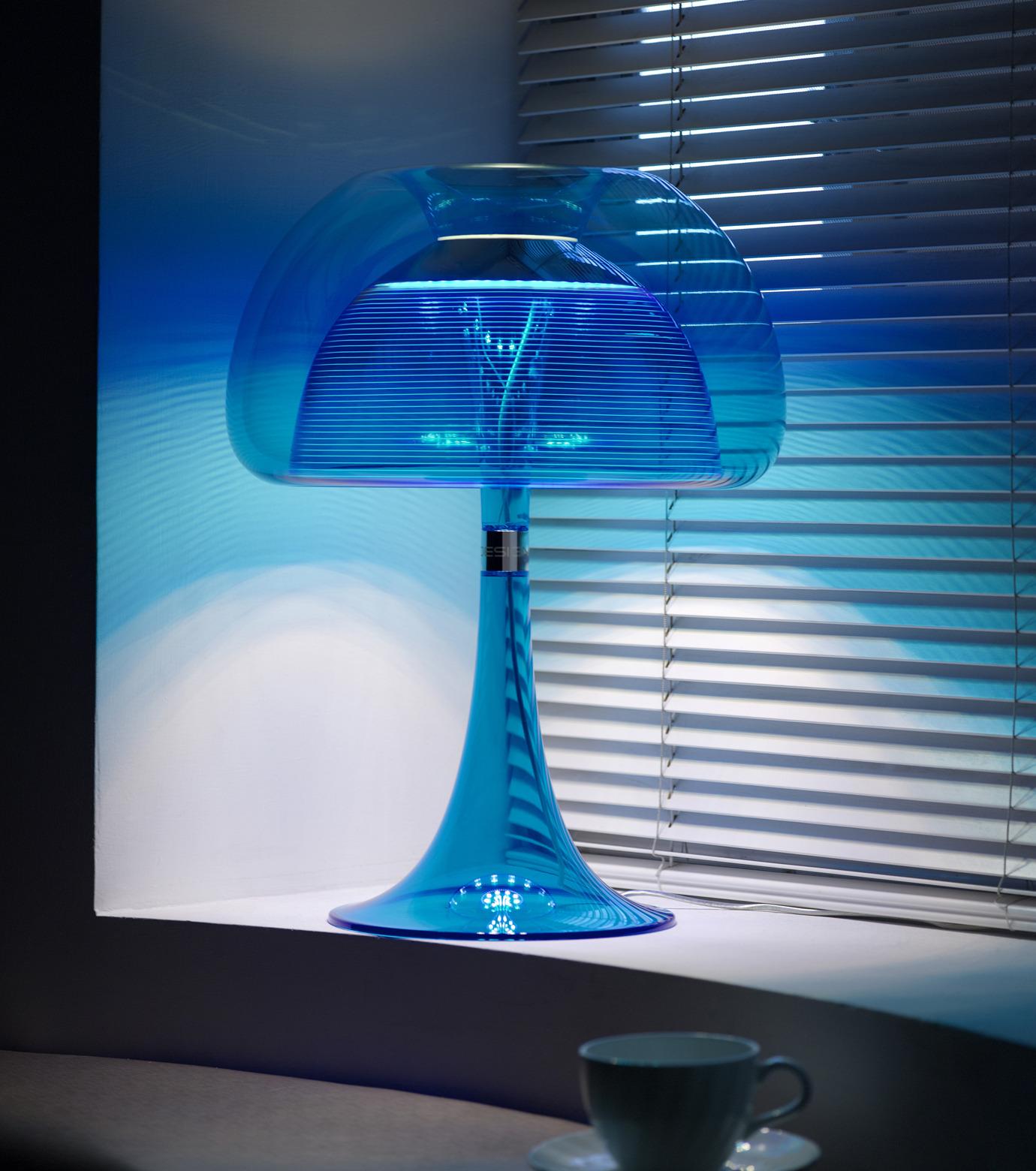 QisDesign(キスデザイン)のAurelia Table Lamp-BLUE(ライト/light)-QDL0010-92 拡大詳細画像3