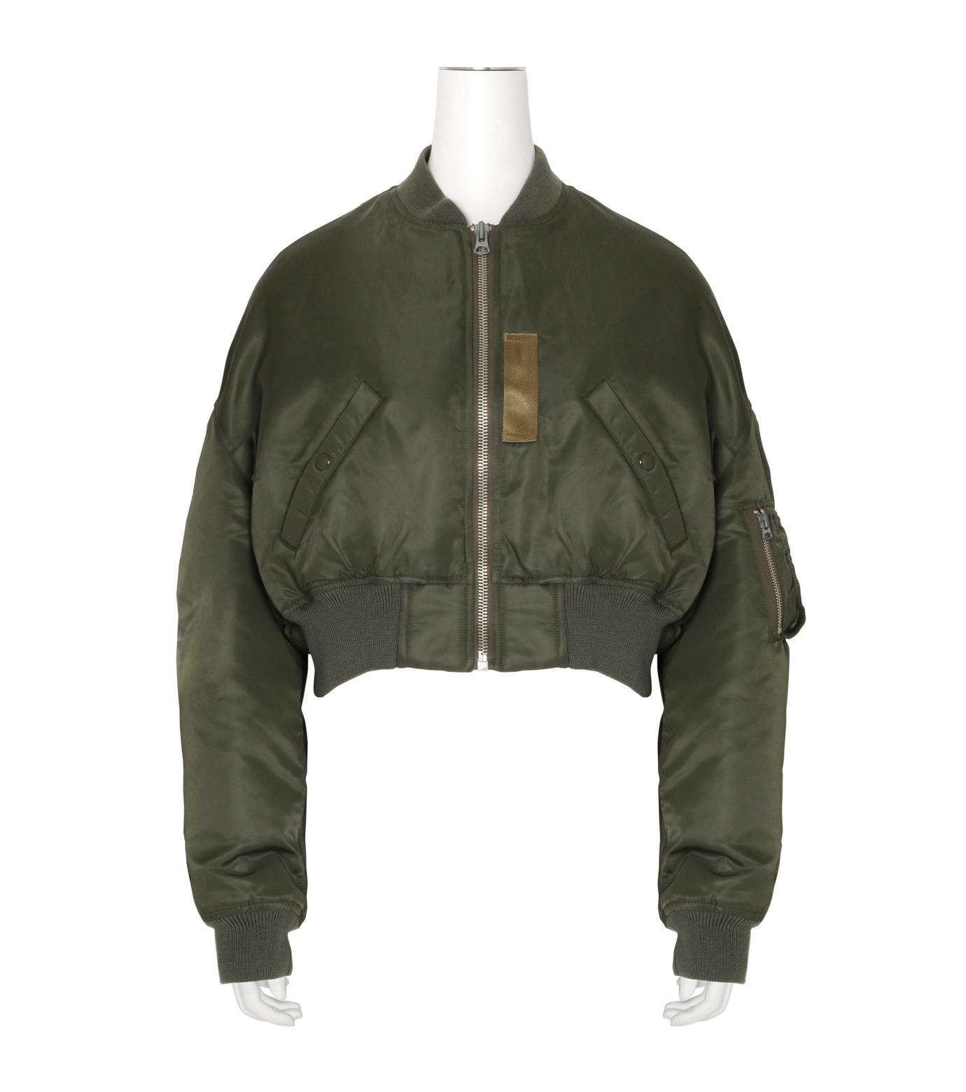 R13(アール サーティン)のcropped-flight-bomber-jacket-KHAKI(ブルゾン/blouson)-R13W2407-004-24 拡大詳細画像1