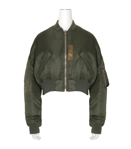 R13(アール サーティン)のcropped-flight-bomber-jacket-KHAKI(ブルゾン/blouson)-R13W2407-004-24 詳細画像1