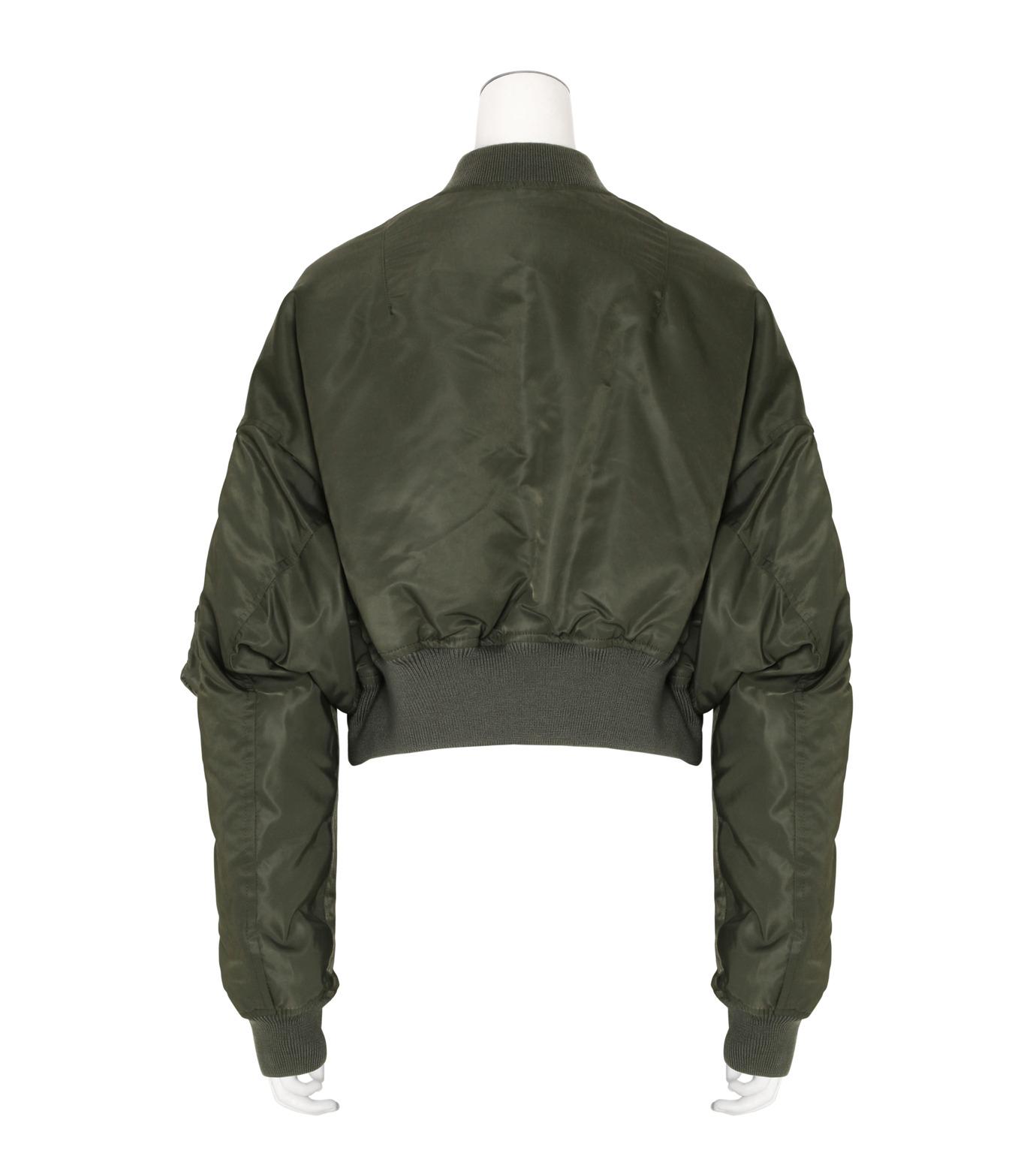 R13(アール サーティン)のcropped-flight-bomber-jacket-KHAKI(ブルゾン/blouson)-R13W2407-004-24 拡大詳細画像2