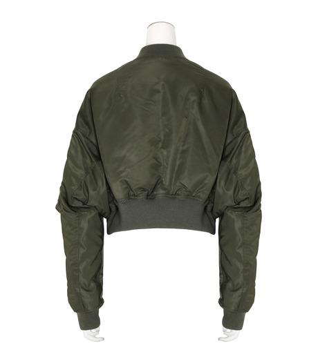 R13(アール サーティン)のcropped-flight-bomber-jacket-KHAKI(ブルゾン/blouson)-R13W2407-004-24 詳細画像2