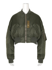 R13 cropped-flight-bomber-jacket