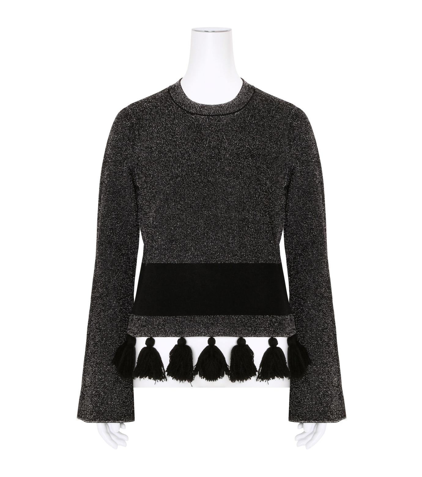 Proenza Schouler(プロエンザ スクーラー)のTweed Knit Flared Slv Crewneck-BLACK(ニット/knit)-R163707-13 拡大詳細画像1