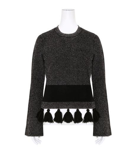 Proenza Schouler(プロエンザ スクーラー)のTweed Knit Flared Slv Crewneck-BLACK(ニット/knit)-R163707-13 詳細画像1