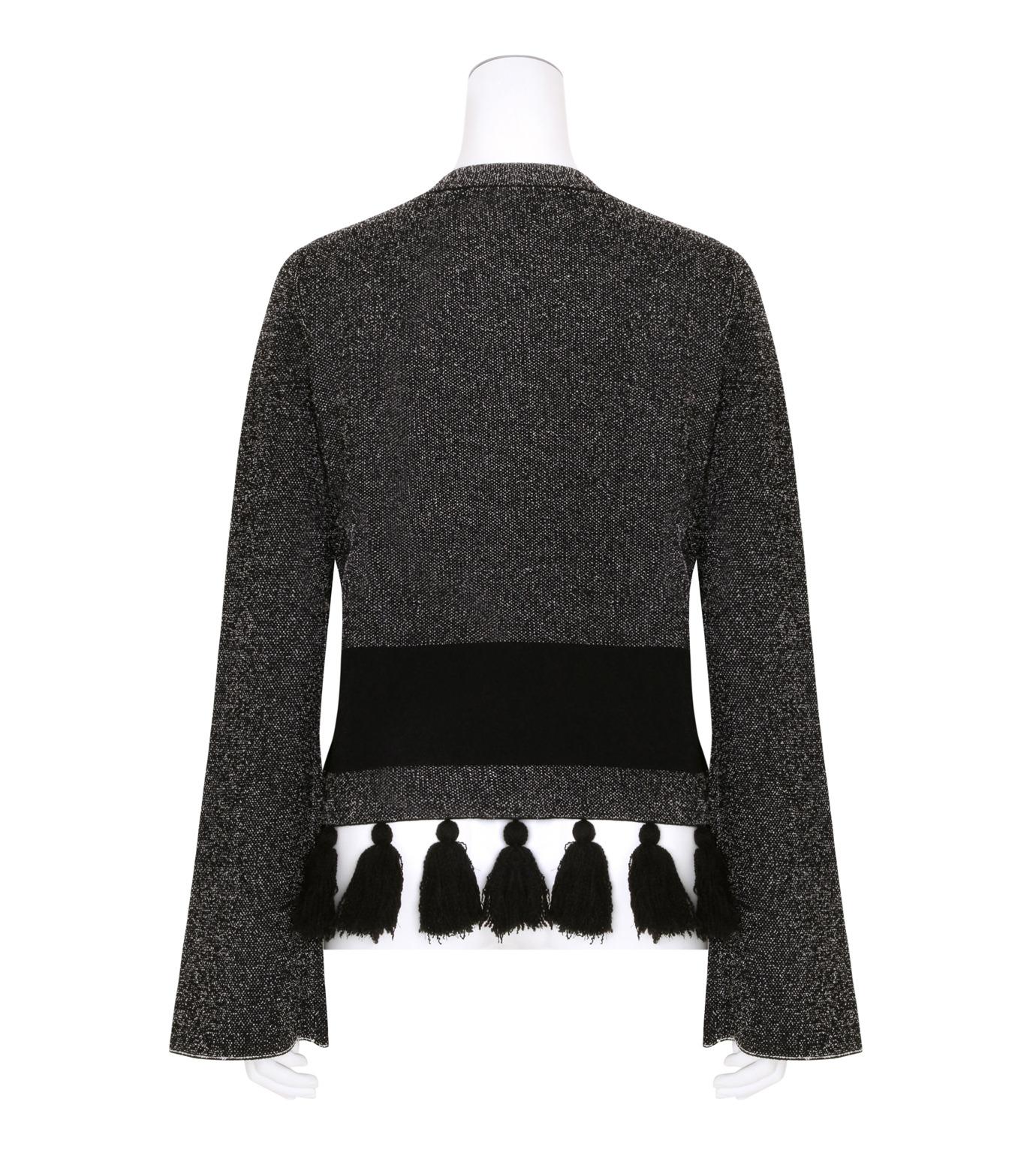 Proenza Schouler(プロエンザ スクーラー)のTweed Knit Flared Slv Crewneck-BLACK(ニット/knit)-R163707-13 拡大詳細画像2