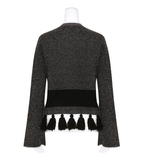 Proenza Schouler(プロエンザ スクーラー)のTweed Knit Flared Slv Crewneck-BLACK(ニット/knit)-R163707-13 詳細画像2