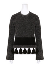 Proenza Schouler Tweed Knit Flared Slv Crewneck