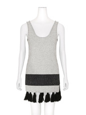 Proenza Schouler Tweed Knit Flared Knit Tunic