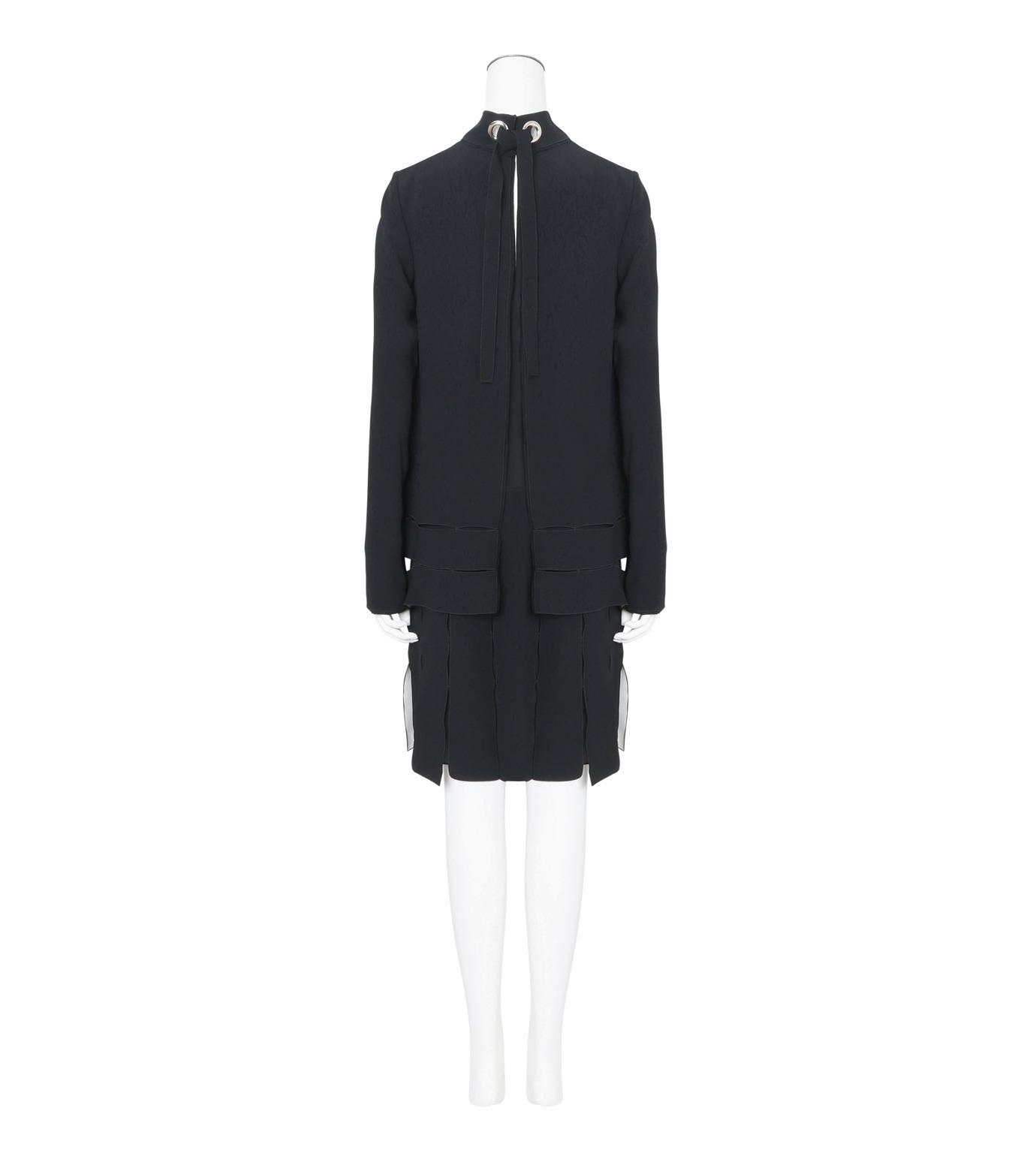 Proenza Schouler(プロエンザ スクーラー)のLS Drop Waist Dress Satin Bonded-BLACK(ワンピース/one piece)-R164342-13 拡大詳細画像2