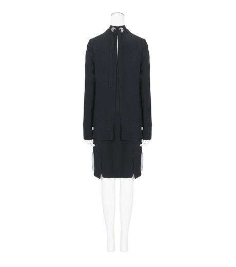Proenza Schouler(プロエンザ スクーラー)のLS Drop Waist Dress Satin Bonded-BLACK(ワンピース/one piece)-R164342-13 詳細画像2