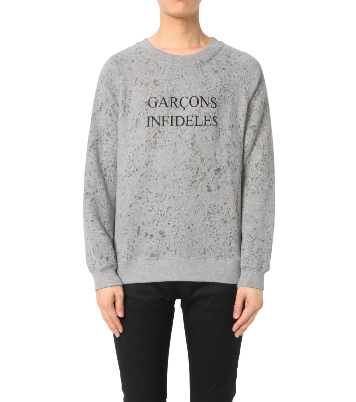 GARCONS INFIDELES(ギャルソン・インフィデレス)のLogo Sweat-GRAY(カットソー/cut and sewn)-RAG-11 拡大詳細画像1
