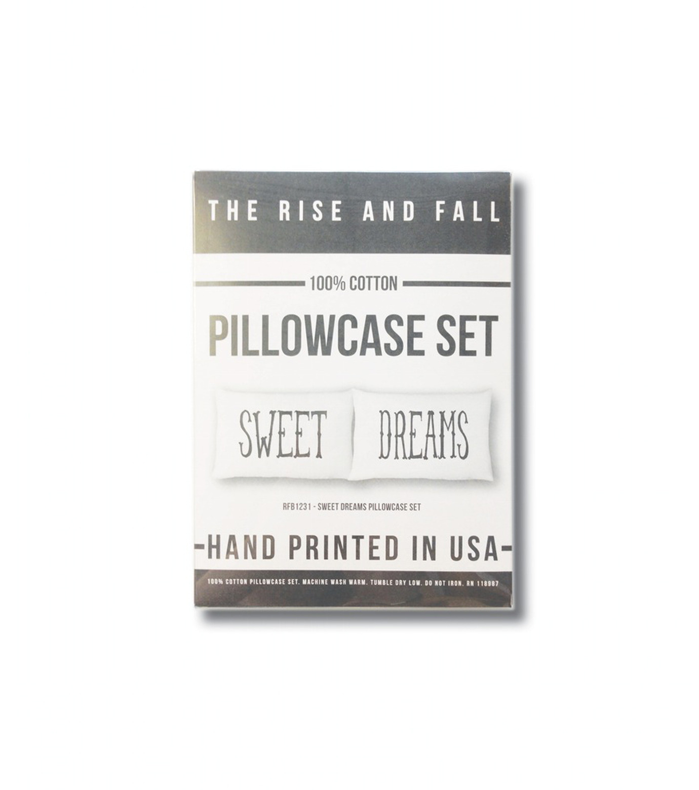 THE RISE AND FALL()のSWEET DREAMS PILLOWCASE SET-WHITE(インテリア/interior)-RFB1231-4 拡大詳細画像3