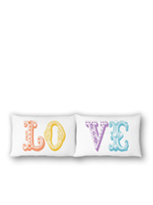 THE RISE AND FALL() MULTI LOVE PILLOWCASE SET