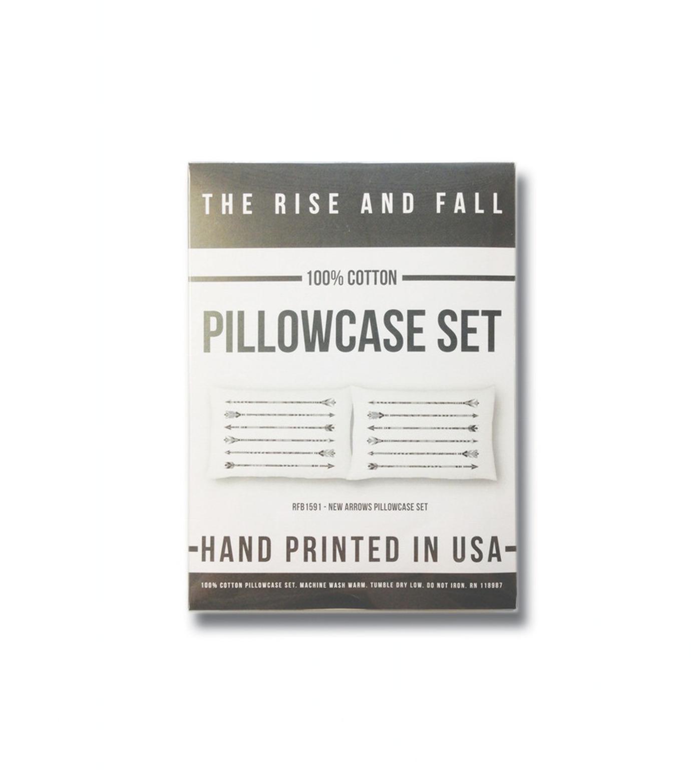 THE RISE AND FALL()のARROWS PILLOWCASE SET-WHITE(インテリア/interior)-RFB1591-4 拡大詳細画像3