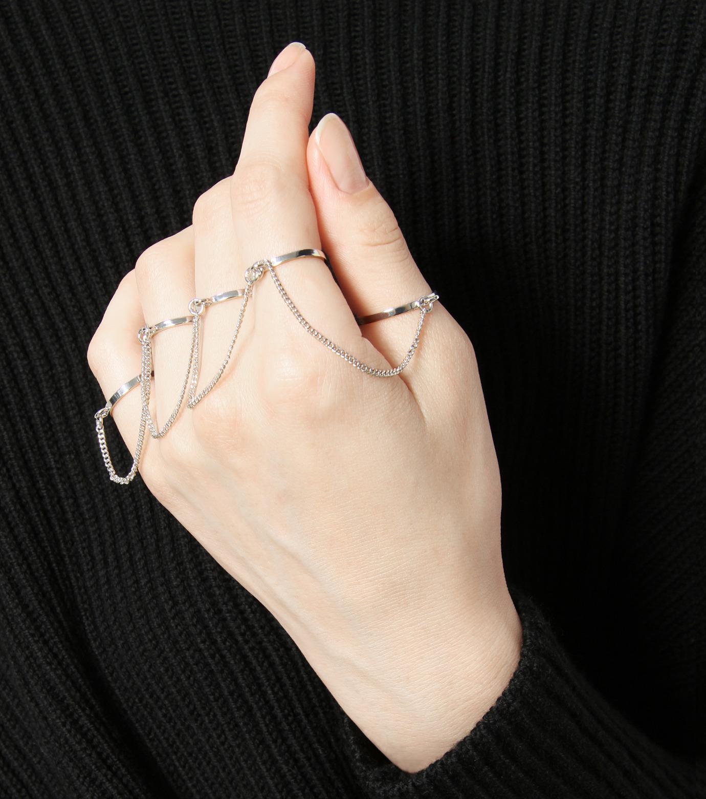 Eddie Borgo(エディ・ボルゴ)のThin Five Finger Ring-SILVER(リング/ring)-RG1513-1 拡大詳細画像2