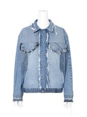 Ksenia Schnaider Mixed Color Reworked Denim Jacket