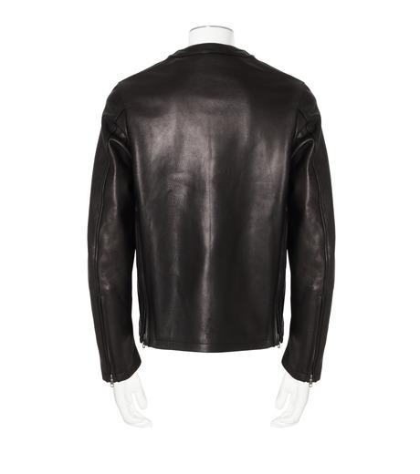 RAINMAKER(レインメーカー)のcrewneck leather shirt-BLACK-RM162-001-13 詳細画像2